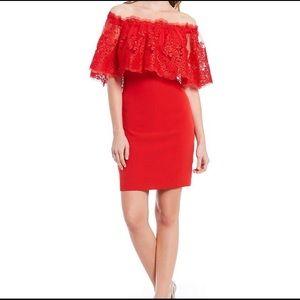 Belle Badgley Mischka Lace Off The Shoulder Dress